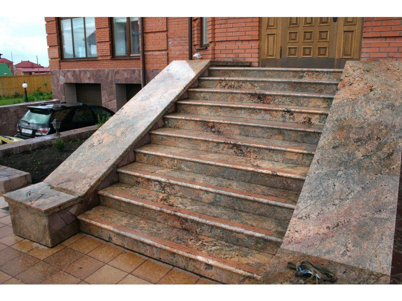 Лестницы и ступени из гранита - 7